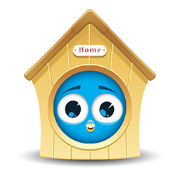 Home Sweet Birdhouse Emoticon