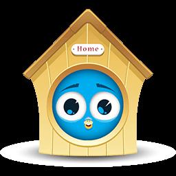 Home Sweet Birdhouse Emoticon