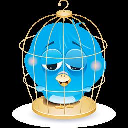 Caged Birdie Emoticon