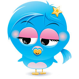 Blue Birdina Emoticon