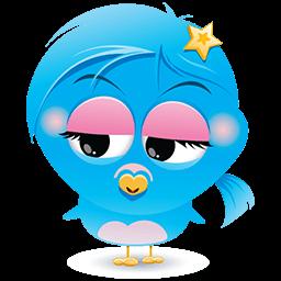 Blue Birdina Emoticon