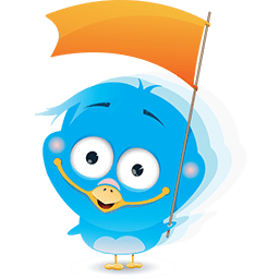 Cheering Birdie Emoticon