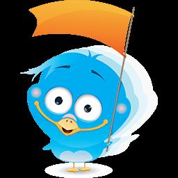 Cheering Birdie Emoticon