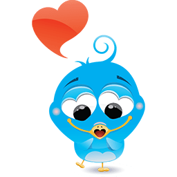 Birdie In Love Emoticon