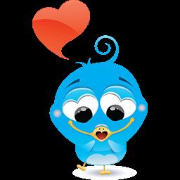 Birdie In Love Emoticon