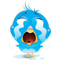 Blue Bird Sorrow Emoticon