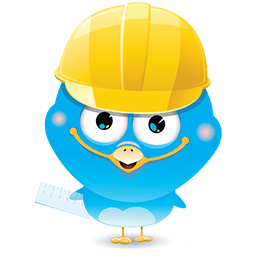 Construction Bird Emoticon