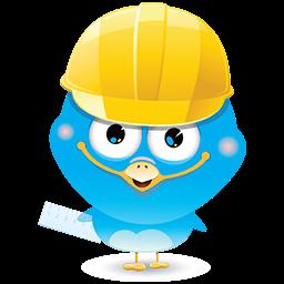 Construction Bird Emoticon