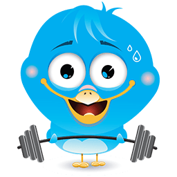 Work Out Birdie Emoticon