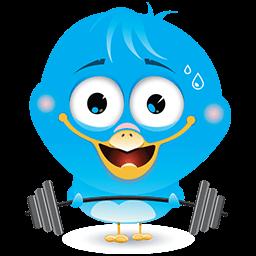 Work Out Birdie Emoticon