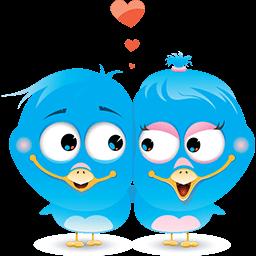 Romantic Birdies Emoticon
