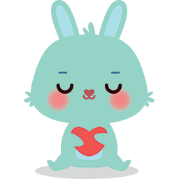 Bunny Loves You Emoticon