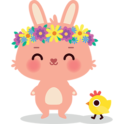 Springtime Bunny's Friend Emoticon