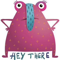 Hey There Creature Emoticon