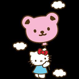 Kitty Baloon Emoticon
