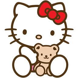 Kitty Bear Hug Emoticon