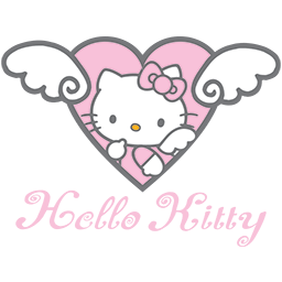 Angel Kitty Heart Emoticon