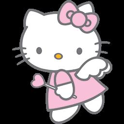 Kitty Angel 4 Emoticon