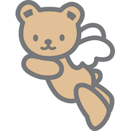 Flying Bear Angel 2 Emoticon