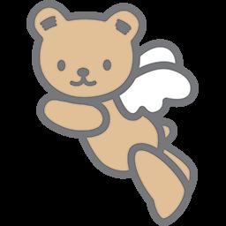 Flying Bear Angel 2 Emoticon