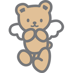 Cute Angel Bear Emoticon
