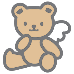 Thinking Sitting Bear Emoticon