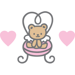 Cute Chair Bear Emoticon