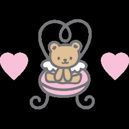 Cute Chair Bear Emoticon