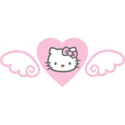 Hello Kitty Heart Emoticon