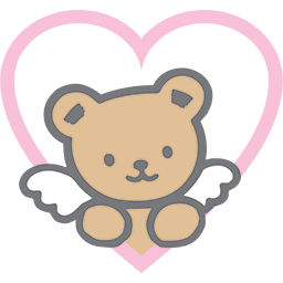 Angel Bear Heart Emoticon