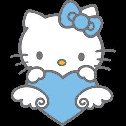 Kitty Behind Heart Emoticon