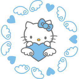 Kitty Angel Wings Emoticon