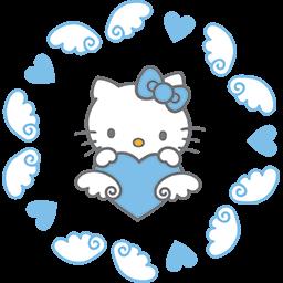 Kitty Angel Wings Emoticon
