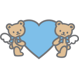 Bears Blue Heart Emoticon