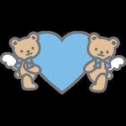 Bears Blue Heart Emoticon