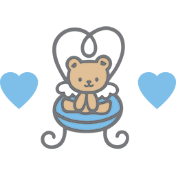 Angel Chair Bear Emoticon