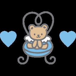Angel Chair Bear Emoticon