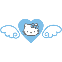 Heart Kitty Wings Emoticon