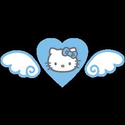 Heart Kitty Wings Emoticon