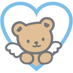Bear Blue Heart Emoticon