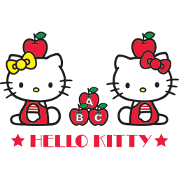 Hello Kitty Apples Emoticon