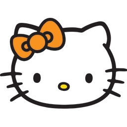 Hello Kitty Head Emoticon