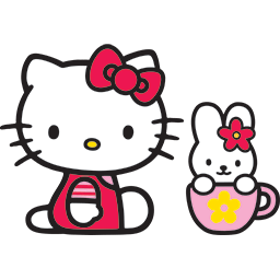 Kitty Bunny Mug Emoticon