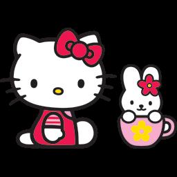 Kitty Bunny Mug Emoticon