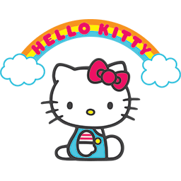 Hello Kitty Rainbow Emoticon