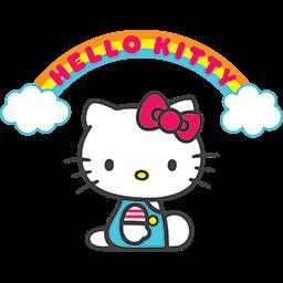 Hello Kitty Rainbow Emoticon