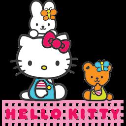 Kitty Friends Picnic Emoticon