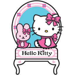 Kitty Bunny Mirror Emoticon