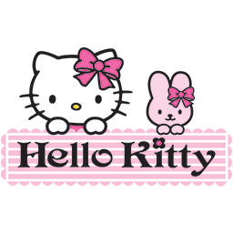 Kitty Bunny Hello Emoticon