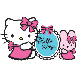 Kitty Bunny Bows Emoticon